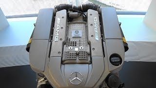 5.5 L V8 Compressor-Engine (M113)  - 50 Years of AMG - Mercedes-Benz Museum Stuttgart
