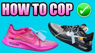 How To Get The OFF WHITE ZOOM FLY ( PINK + BLACK ) | Nike X Off White Zoom Fly Release Info