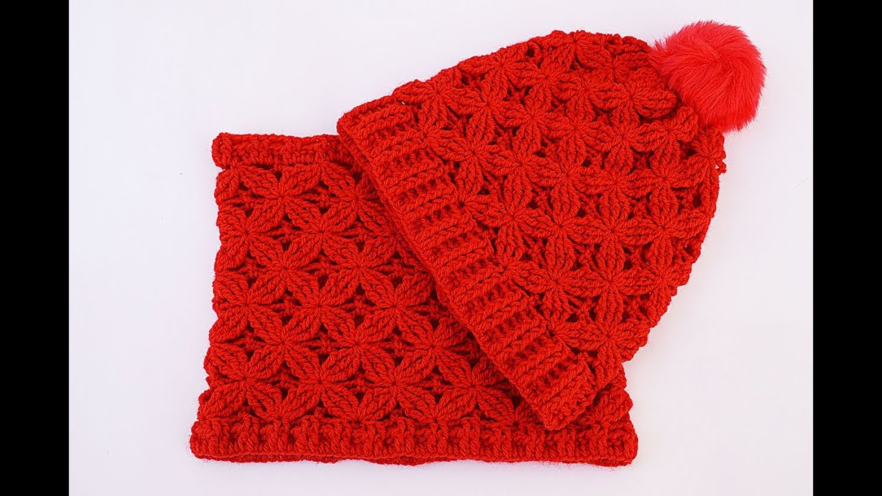 Crochet Hat And Scarf Very Easy Set Diy Youtube