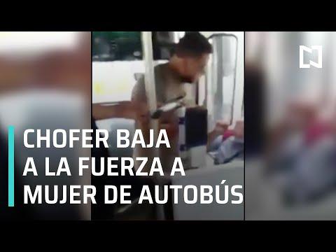 Chofer baja a empujones a mujer de autobús en Jalisco - Las Noticias