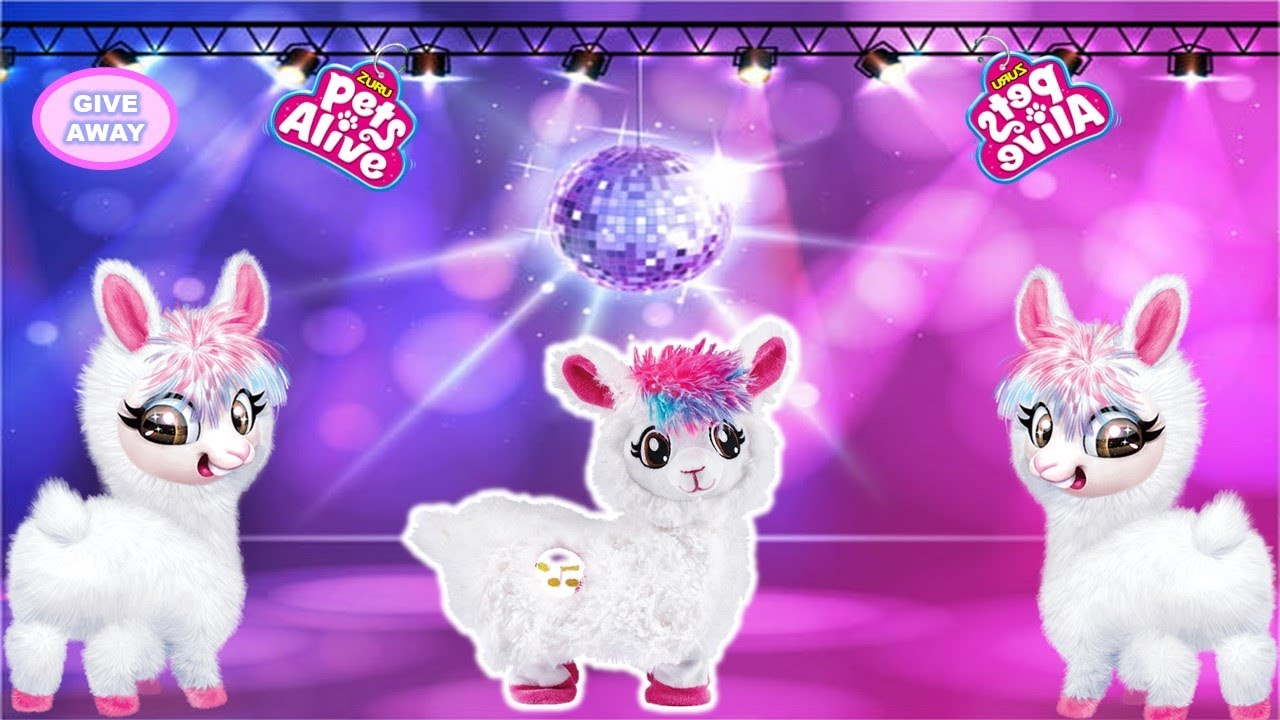 Zuru Pets Alive Boppi The Booty Shakin Llama Unboxing Toy Review Giveaway Youtube