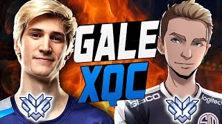 GALE BEST ANA AND XQC PRO WINSTON! PERFECT DUO? [ OVERWATCH SEASON 9 TOP 500 ]