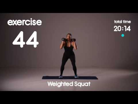 Build a Booty & Burn Belly Fat Weighted HIIT Workout & Cardio  - Level 3 - 60s/30s