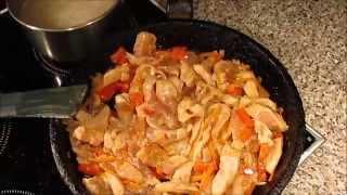 Sweet and sour chicken - Курица в кисло-сладком соусе