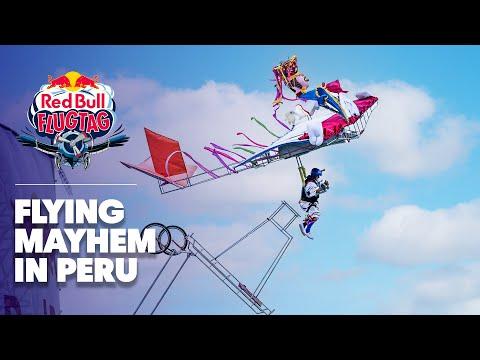 Human Powered Flying Mayhem in Peru   Red Bull Flugtag 2016