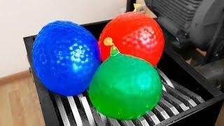 Shredding Giant Balloons   10 Tests with Orbeez
