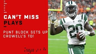 NYJ Punt Block Leads to Darnold & Crowell's TD Drive!