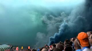 Crazy Swedish Fans Disrupt Football Match July 2012