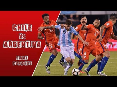 Chile 0 (4) - (2) 0 Argentina | Final Copa América Centenario
