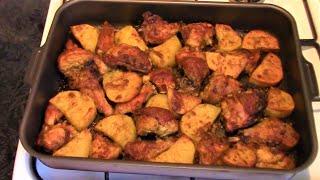 Курица с картофелем запеченные в духовке./Рецепт курицы в духовке./Как приготовить курицу.