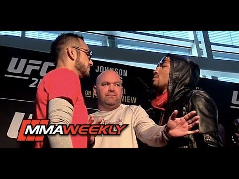 Dana White Gets Scared At UFC 216 Face Offs