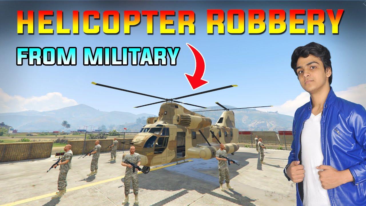 MILITARY SECRET HELICOPTER ROBBERY | TELUGU DOST GAMEPLAY GTA-5 #25
