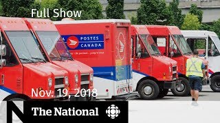 WATCH LIVE: The National for Monday November 19, 2018