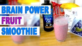 Brain Power G Smoothie | Blueberries & Flax Seed Oil (omega 3)