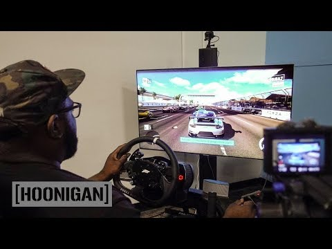 [HOONIGAN] DT 114: Forza Motorsport 7 on A Fanatec CSW Simulator. Hot lap battle!