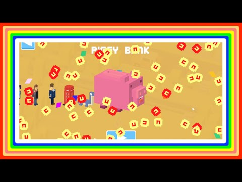 $ Piggy Bank $ Crossy Road Complete Guide ☆ HOW & WHY you would buy him? + 90 character spin!
