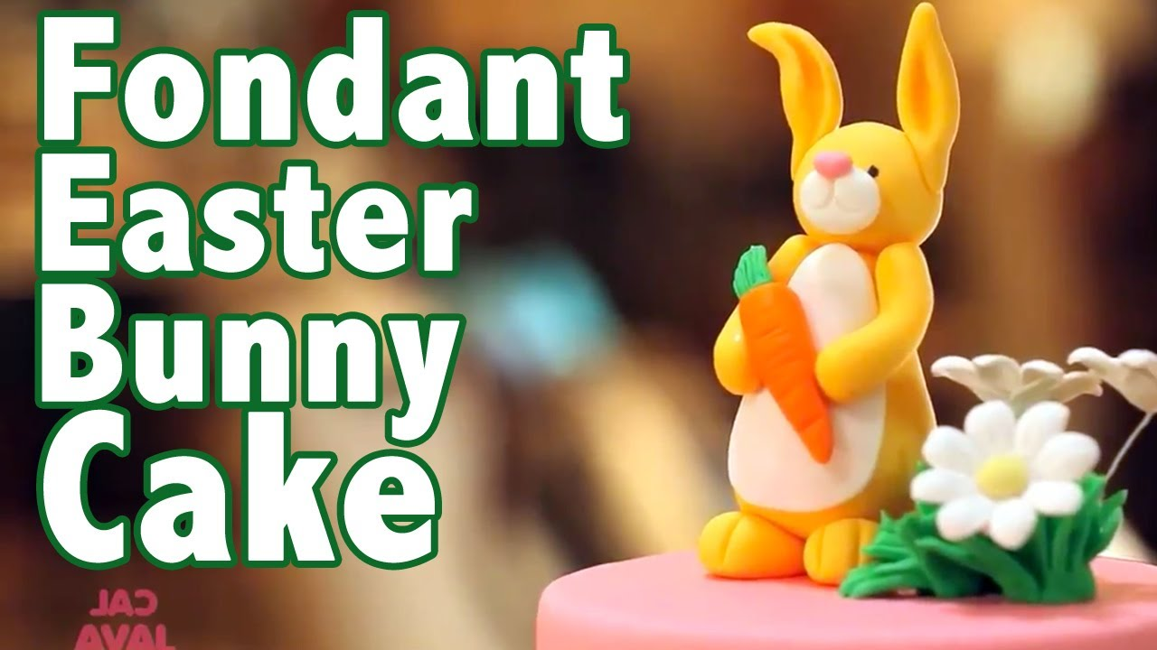 How To Make A Rolled Fondant Easter Bunny Cake  Cake Tutorials  Youtube