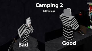 Roblox Camping 2 ALL ENDINGS !!!