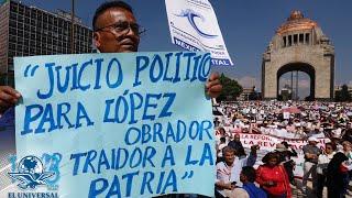 Marchan en la CDMX contra gobierno de López Obrador