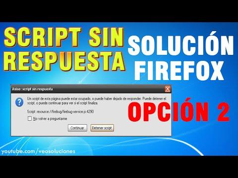 Mozilla Firefox | Script sin respuesta (cómo solucionarlo) 2/2