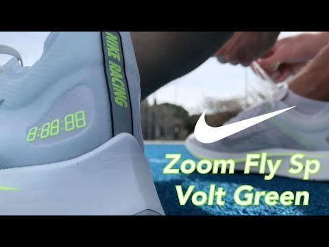 12e6c93dace32 Nike Zoom Fly SP Volt Green On Feet at NOIRFONCE - YouTube