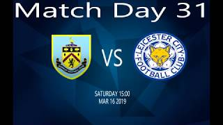 Burnley vs Leicester  16-03-19