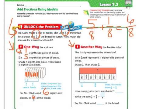 Go math 73 add fractions using models youtube go math 73 add fractions using models ccuart Gallery