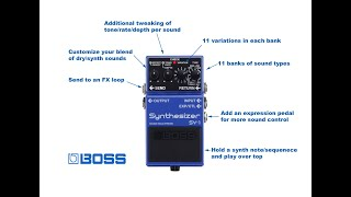 Boss SY-1 + Bass - First Impressions & Discoveries
