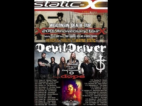 """DevilDriver and Static-X w/ Dope tour """"we will play Coal Chamber songs live""""..!"""