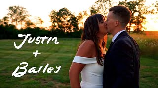 Justin + Bailey // Wedding Highlight Film // Union 12 // Columbia City, Indiana