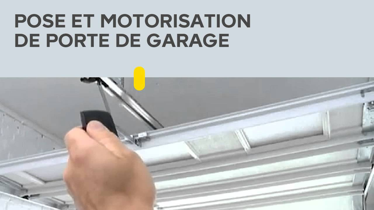 pose et motorisation de porte de garage youtube. Black Bedroom Furniture Sets. Home Design Ideas