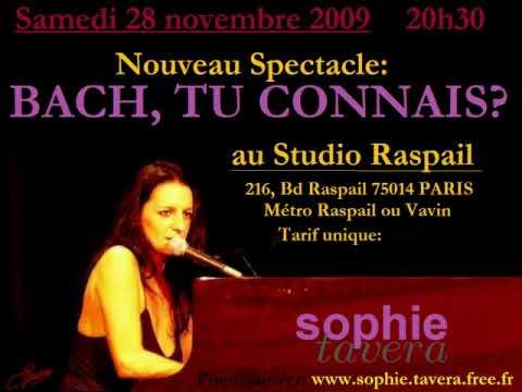Sophie TAVERA au Studio Raspail Paris 14 - 28 11 2009 20h30