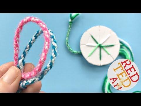 EASY How to make friendship bracelets with a cardboard disk -  DIY Kumihimo Bracelets