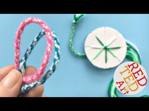 easy-how-to-make-friendship-bracelets-with-a-cardboard-disk---diy-kumihimo-bracelets
