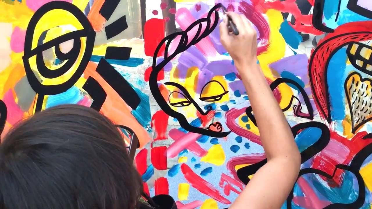 Oeuvre de Street Art Contemporain qui requiert la perticipation du public par aNa anaystof