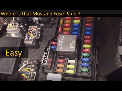 Fuse Box Locations on the 2005 to 2014 Ford Mustang - YouTube | Mustang Fuse Box |  | YouTube