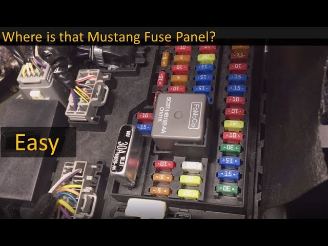 Fuse Box Locations on the 2005 to 2014 Ford Mustang - YouTube   2014 Mustang Fuse Box      YouTube