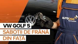 Înlocuire Placute Frana VW GOLF: manual de intretinere si reparatii
