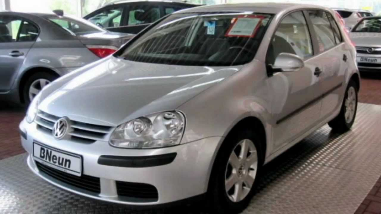 volkswagen golf 1 6 fsi trendline 2004 reflexsilber 19960 youtube. Black Bedroom Furniture Sets. Home Design Ideas