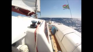 35 foot Edel Catamaran at 12 to 15 knots  This boat now for sale.