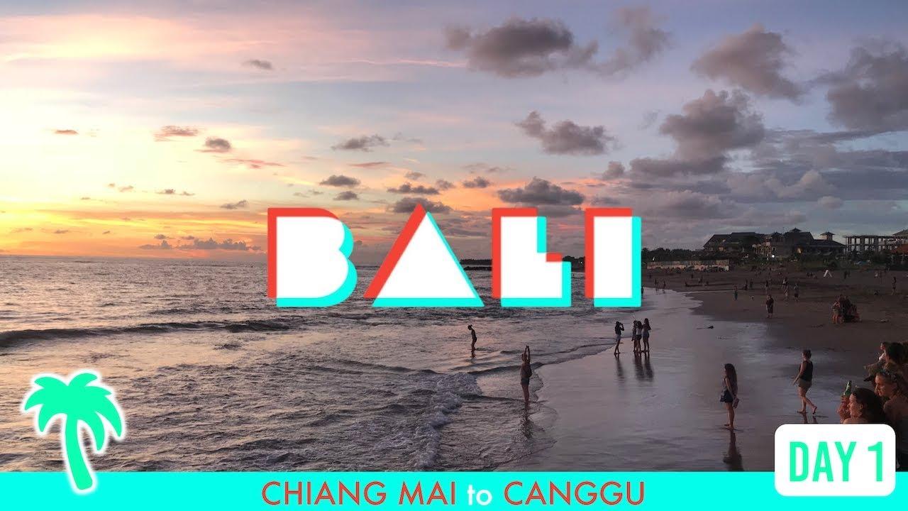 FIRST TRIP TO BALI!! ?Chiang Mai to Canggu EPIC Villa & Surf Beach — Travel Vlog 2018 Day 1