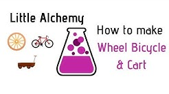 Little Alchemy-How To Make Wheel, Bicycle & Cart Cheats & Hints