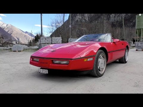 Chevrolet Corvette C4 1989 | Driving, Sound and Acceleration