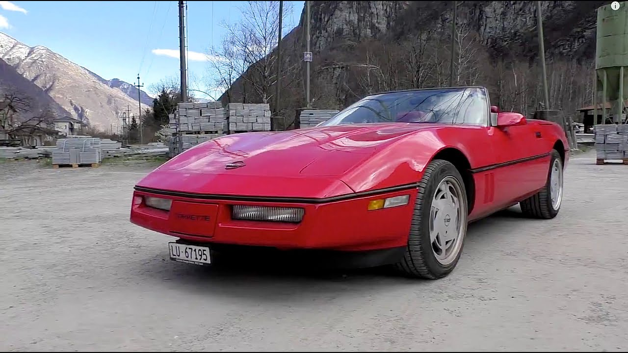 chevrolet corvette c4 1989 driving sound and acceleration youtube. Black Bedroom Furniture Sets. Home Design Ideas