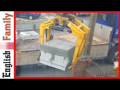 Wickes Crane Truck Operator Hits Wall Attempts To Hide Damage When No One Is Looking
