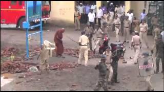 Disgrace & Lathi-charge on Buddhists