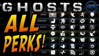 GHOSTS Multiplayer - ALL PERKS! New Perk System & Info! - (Call Of Duty Ghost Online)