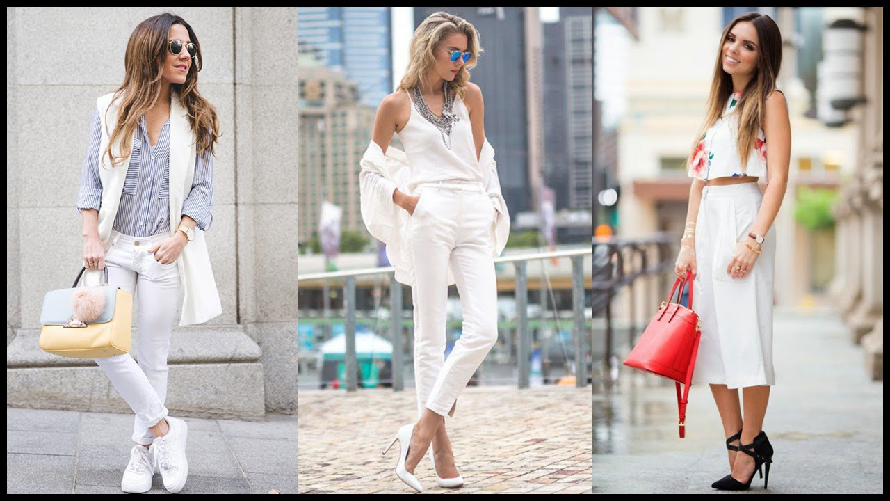 Pants white how to wear images