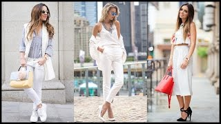 How to Wear White Pants This Summer