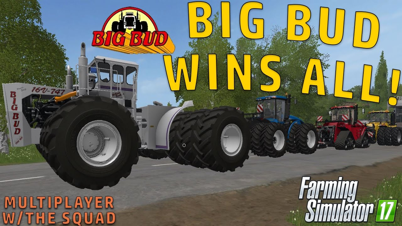 BIG BUD VS ALL TUG O' WAR | farming Simulator 2017 - Gorillaman